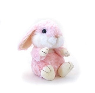 "Stuffed Floppy Bunny SS Pink 6"""