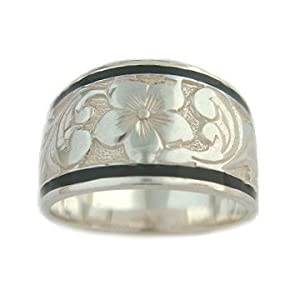 hawaiian heirloom jewelry sterling silver tapered ring