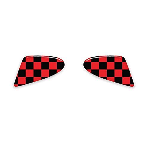 gobadges ip24 red checker paddle shifter badge for mini. Black Bedroom Furniture Sets. Home Design Ideas