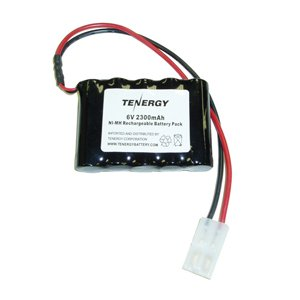 Tenergy 6V 2000mAh NiMH RX Battery Packs with Hitec Connector for RC Aircrafts and Walking Robot