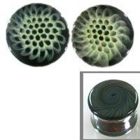 Honeycomb Image on Grey Background Double Flare Handmade Glass Plugs - 9/16