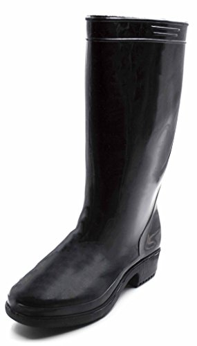 Charles Albert Women's Classic Style Rain Boots Prints and Solids in Black Size: 9 (Good Rain Boots compare prices)