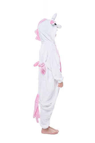 Children's Pajamas Animal Costume Animal Onesie Kids Sleeping Wear Kigurumi Pajamas Cosplay (M, unicorn)