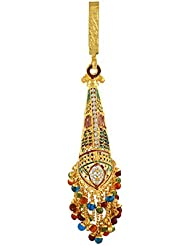 Anuradha Art Golden Finish Styled With Multi Colour Stone Designer Chabi Challa Waist Key Chain For Fashionable...