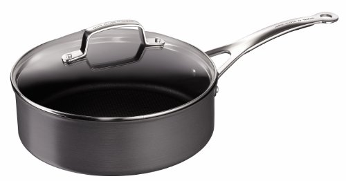 Tefal by Jamie Oliver 26 cm Hard Anodised Sautepan with Lid, Induction Compatible