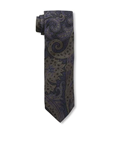 J. McLaughlin Men's Paisley Tie, Blue/Brown/Purple