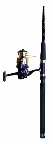 Okuma Fishing DZ-1002-80 Diezel Combo Spinning Reel (Large, Black/Gold)