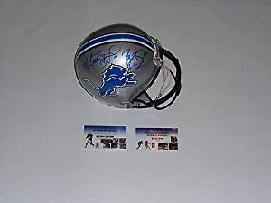 REGGIE BUSH & MATTHEW STAFFORD autographed signed DETROIT LIONS F S Helmet GTSM -... by Sports Memorabilia