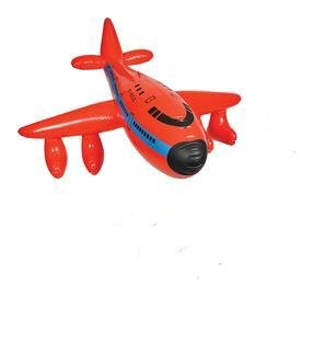 JUMBO 48'' Inflatable 747 AIRPLANE - JET INFLATE - RED - Birthday Party Decor Favor Prize Giveaway Play Toy - Indoor Oudoor Fun PLANE - 1