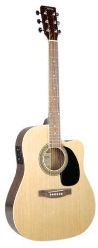 Johnson Jg-620-Cen 620 Player Series Cutaway Acoustic Electric Guitar, Natural