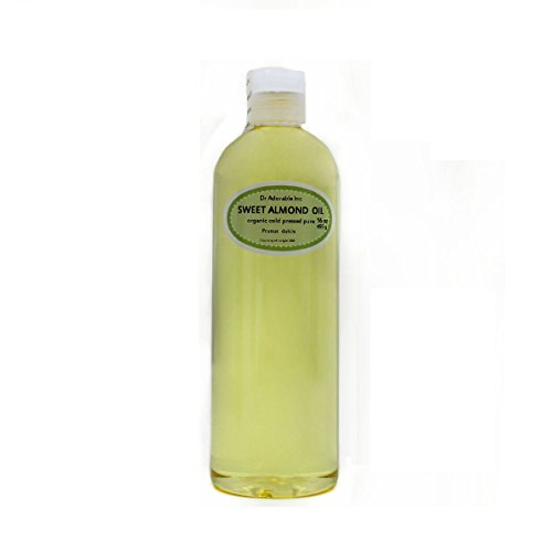 Sweet Almond Oil Organic Pure Cold Pressed by Dr.Adorable 16 Oz/1 Pint (Cold Pressed Almond Oil Organic compare prices)