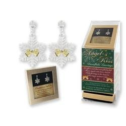 Angel's Kiss Snowflake & Angel Earrings w/ Verse