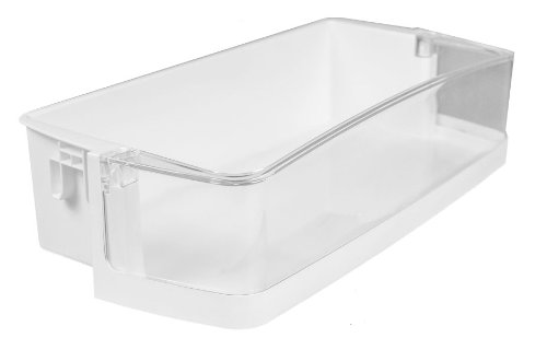 LG Electronics 5005JA2076J Refrigerator Door Shelf/Bin, White with Clear Trim