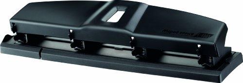 Helix E4001 - Perforador de papel con 4 agujeros, color negro
