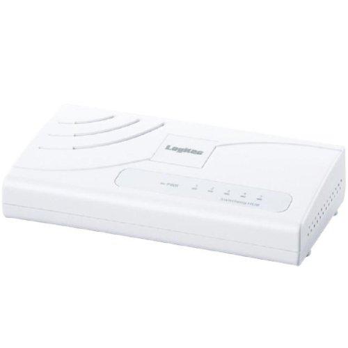 Logitec スイッチングハブ 5ポート 電源外付 ホワイト LAN-SW05/PC