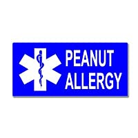 Peanut Allergy With Star Of Life - Window Bumper Sticker from Stickers