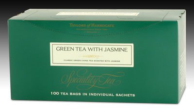 Taylors of Harrogate Green Tea with Jasmine - String and Tag 100ct.