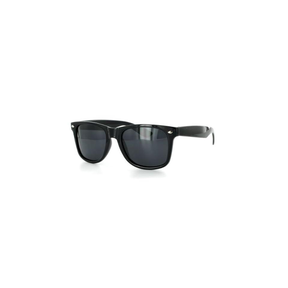 Polarized Vintage Trendy Retro Sunglasses Unisex W109po black - black lens...