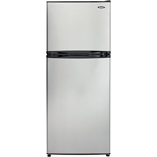 Danby DFF100C1BSLDB Refrigerator with Top-Mount Freezer, 9.9 Cubic Feet, Black/Spotless Steel (Refrigerator Mid Size compare prices)
