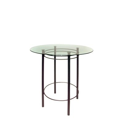 Cheap Astro Table Height: Dining Height (28″), Top: 30″ Glass Top, Frame Finish: Copper Metal (Astro(Dining)(CopperMtl)(30InchGlassTop))