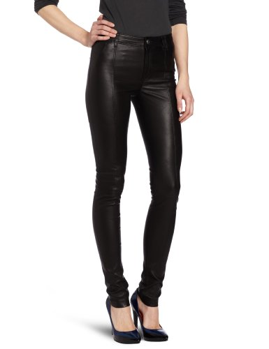 Diesel Women's L-Rimmon Leather Pant, Black, 26