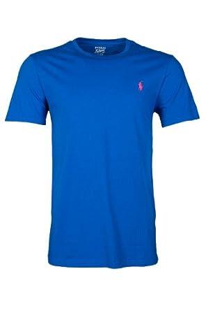 Ralph Lauren T-Shirt, Royal Blue Plain Logo Tee Royal L