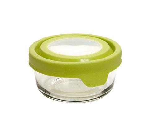 Anchor Hocking 1-Cup Round Food Storage Containers with Green TrueSeal Airtight Lids, Set of 6