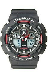 Mens Watch Casio GA100-1A4 G-Shock Black G-Shock Analog Digital Anti-Magnetic Hi