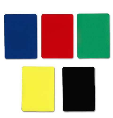 New Brybelly Poker Size Cut Cards-Pack of 5, Assorted Color