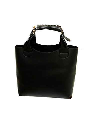 Promithi Bag Hot Sale Womens Retro Bucket Bag All Match Shoulder Handbags Black