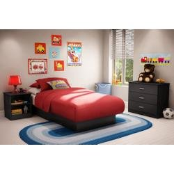Cheap Kids Bedroom Furniture Set in Solid Black – South Shore Furniture – 3070-BSET-12 (3070-BSET-12)