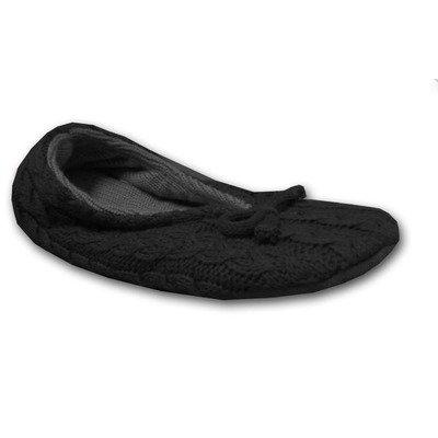 Cheap Muk Luks Women's Acrylic Cable Knit Ballerina Slippers (B003VGCXZU)