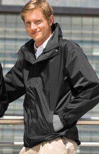 Henbury Mens Lightweight Showerproof Shell Jacket - Large - Black
