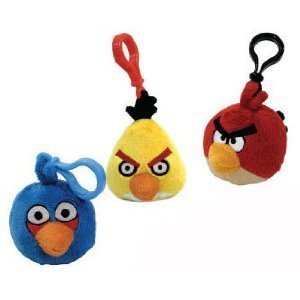 Imagen de Angry Birds Surtido de peluche Clip Mochila