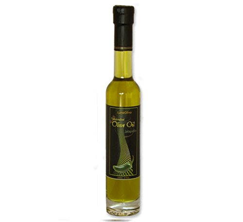 Napa Valley Olive Oil Fresh Jalapeno Infused Extra Virgin For Gourmet Cooking, Salad Dressing, Gift Baskets, Mediterranean Diet, Vegetarian Recipes, Health Food Or A Unique Gluten Free Gift (Napa Valley Olive Oil compare prices)