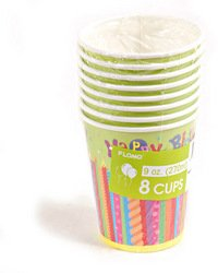 Happy Birthday Candles Printed Cups (Sold by 1 pack of 36 items) PROD-ID : 1883082