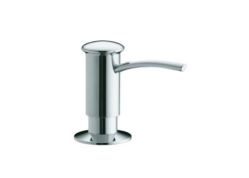 KOHLER K-1895-C-CP Soap or Lotion Dispenser with Contemporary Design (Clam Shell Packed), Polished Chrome