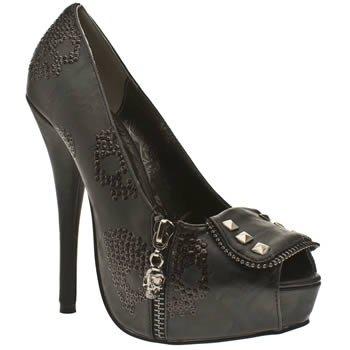 Iron Fist Ruff Rider Black New Womens Hi Heel Shoes