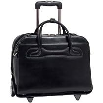 McKleinUSA WILLOWBROOK 94985 Black Detachable-Wheeled Ladies' Briefcase
