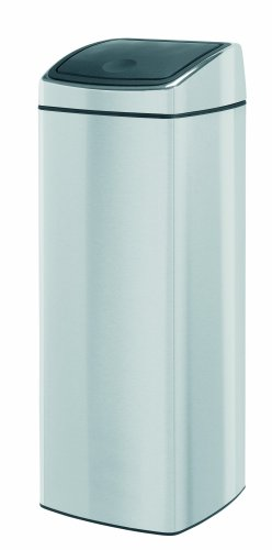 Brabantia Touch Bin, Rectangular, 25 Litre, Matt Steel Fingerprint Proof