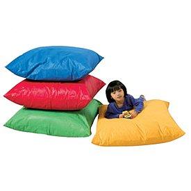 children 39 s factory cf600 018 square floor pillow blue floor pillows for kids. Black Bedroom Furniture Sets. Home Design Ideas