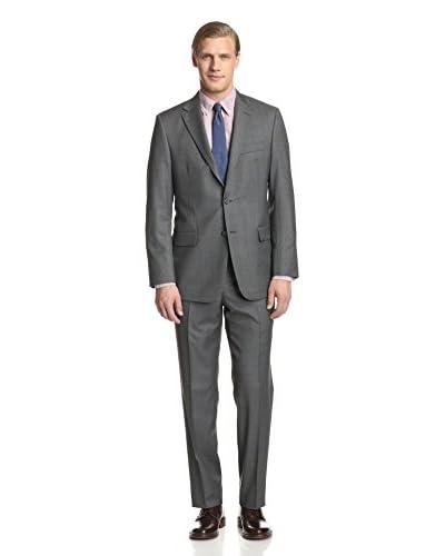 Hickey Freeman Men's Textured Solid Suit