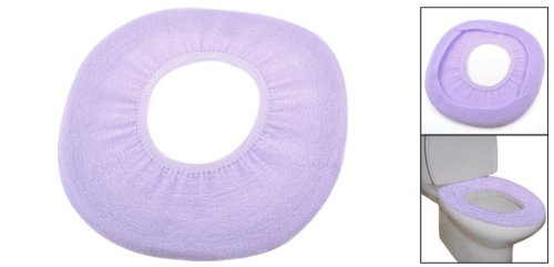 Bathroom toilet seat stretch warmer cushion pad pure light for Light purple bathroom accessories