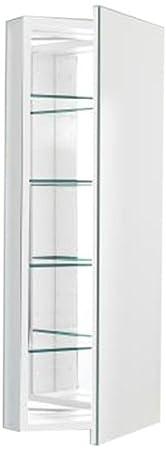 Robern CB-PLM1640W  Pl-Series Flat Mirror Medicine Cabinet, White