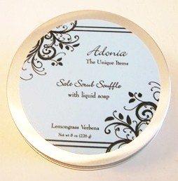 Adonia Lemongrass Verbena Salt Body Scrub Soufflé  8 oz