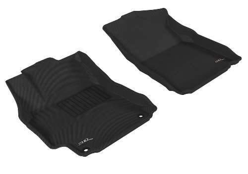 Maxpider Gray Rubber Floor Mats, 1St Row, 2 Pieces, Fits 2012-2012 Toyota Camry, Additional Fitment Notes front-189539