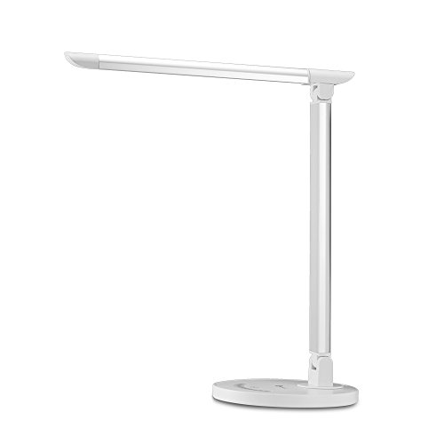 TaoTronics LED Desk Lamp Eye-caring Table Lamp, Energy Efficient LED Lamp(12W, Dimmable, Touch Control, 5 Color Modes, USB Charging Port) Silver (Tao Led Lighting compare prices)