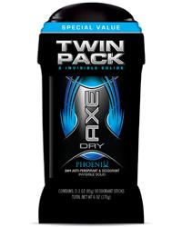 AXE Phoenix Anti-Perspirant and Deodorant Stick, 2.7 Ounce, Twin Pack