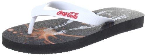 Coca Cola Unisex - Adult Pop Flip-Flops White Weià (White) Size: 35/36
