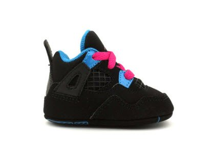 Air Jordan Crib 4 Retro (Gp) Black Pink Blue 487219-019 2c